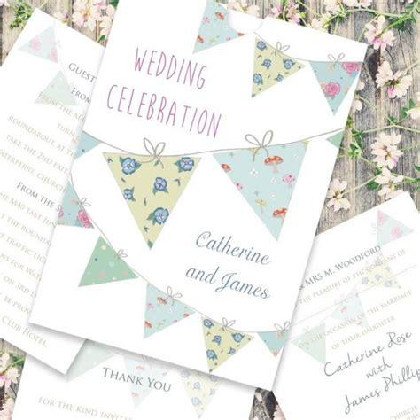 bunting wedding invitation paper themes wedding invites
