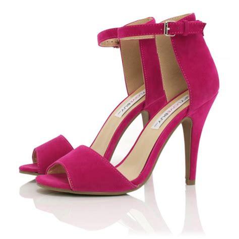 pink sandals heels buy marlie stiletto heel peep toe sandal shoes pink suede