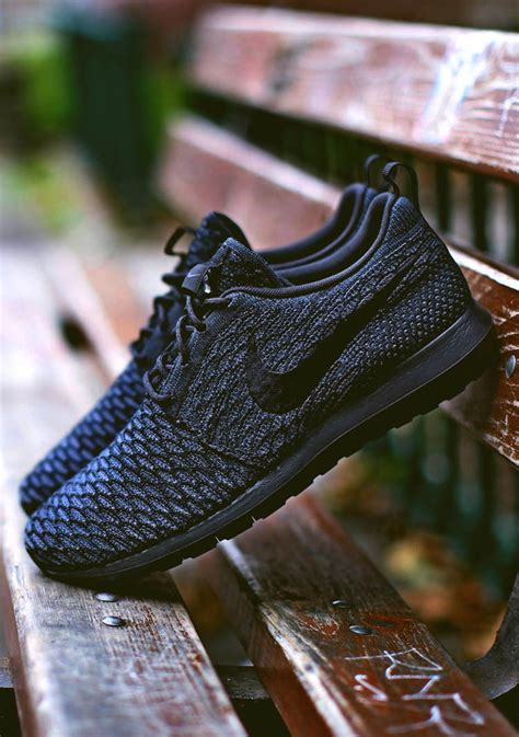 dr house nike shoes nike flyknit roshe run nm black black soletopia
