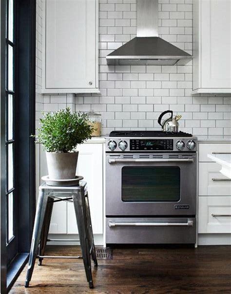 White Metro Tiles Kitchen - metro tiles in the kitchen black and white kitchen ideas pinterest