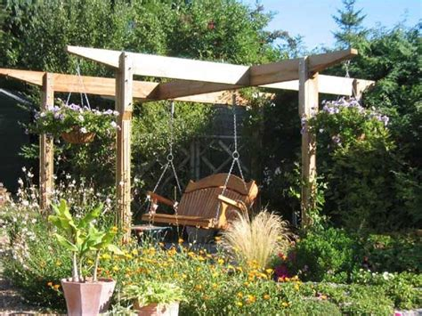 pergola swing seat 1000 ideas about garden swing seat on pinterest garden
