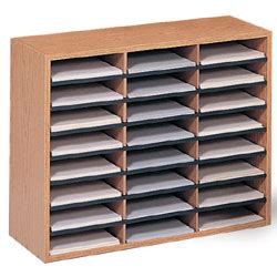 paper sorter shelves wood paper organizer literature sorting rack with 24 trays