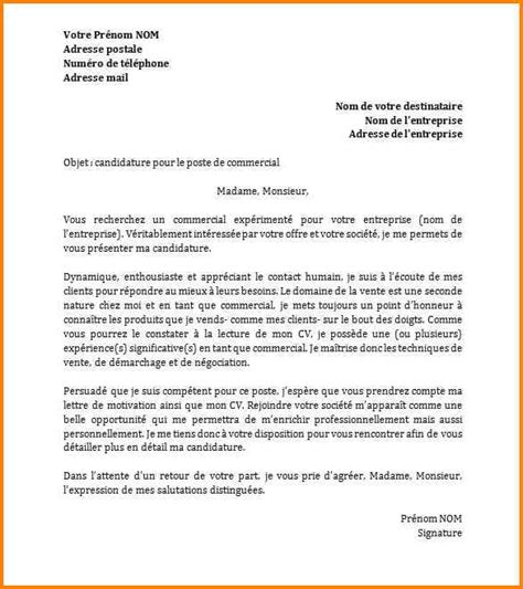 Exemple De Lettre Type De Motivation 9 Exemple Type Lettre De Motivation Format Lettre