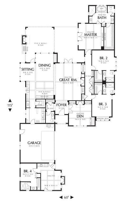 Mascord Floor Plans by Mascord House Plan 1234b House Plans Covered Patios And