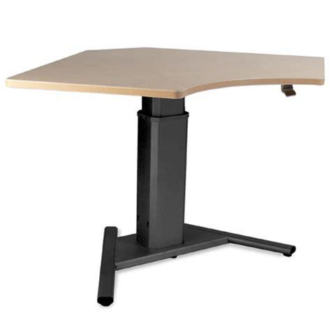 Adjustable Height Corner Desk Sis Move Height Adjustable Desk 90 Degree Corner
