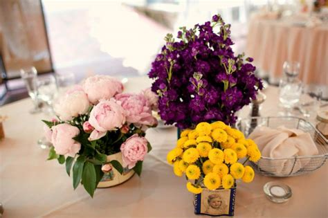 Purple And Yellow Centerpieces Images Purple And Yellow Wedding Centerpieces