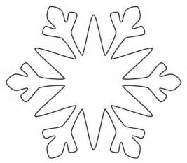 Easy Snowflake Outline by Snowflake Template Clipart Best