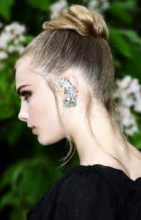 womens hairstyles to hide hearing aids ear cuff trend provocative woman