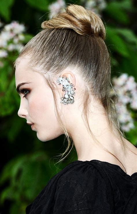 best hairdos to disquise hearing aids ear cuff trend provocative woman