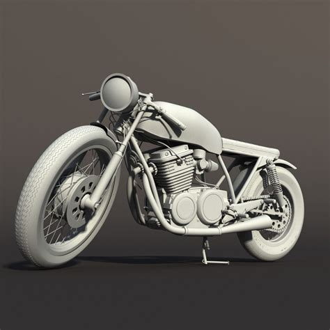 Model Motorrad by Cafe Racer Motorcycle 3d Model Rigged Max Obj Cgtrader