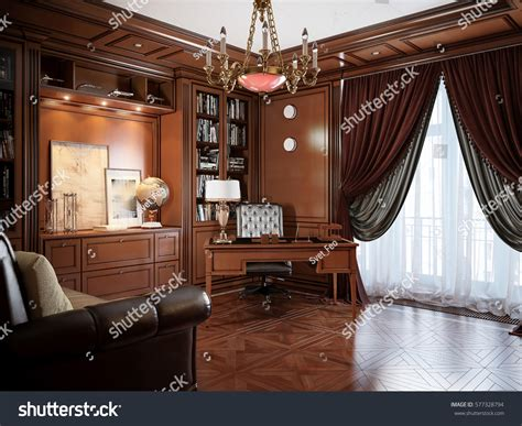 home design 3d classic home office interior design classic style stock illustration 577328794 shutterstock