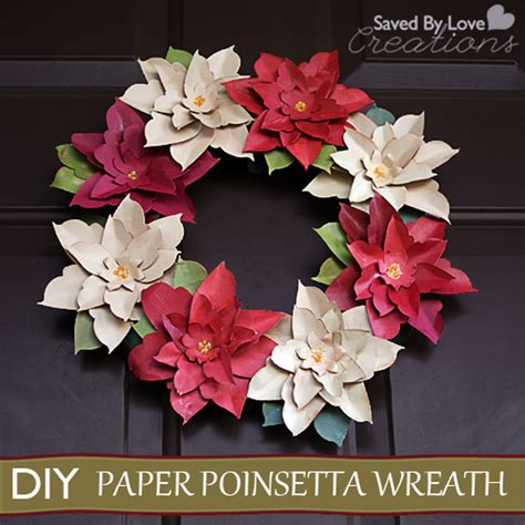 paper poinsettia flowers pattern 21 diy christmas paper decorations the sassaby party co