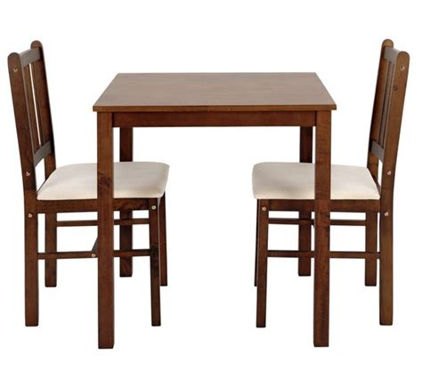 Argos Bistro Table Buy Home Kendall Solid Walnut Dining Table 2 Chairs At Argos Co Uk Your Shop