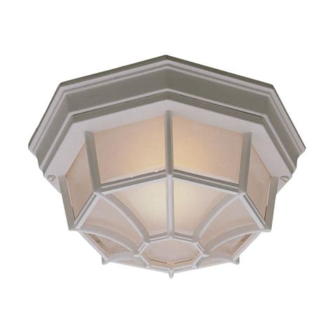 Outdoor Flush Mount Light Fixtures Philips Outdoor Essentials 1 Light Outdoor Flush Mount Matte White Ceiling Fixture Sl7458 The