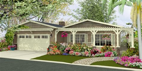 Front Porch With Pergola by Renderings Manufactured Home Reno Pamdesigns