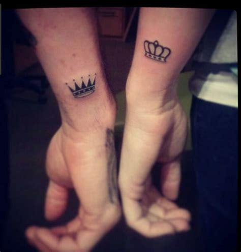 matching his and her tattoos 1000 images about tats on crown tattoos