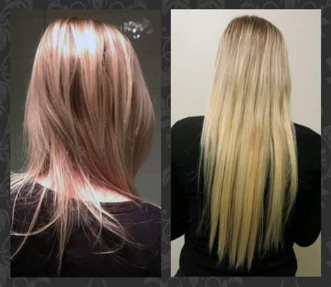 micro ring hair extensions before and after great result after micro ring extensions best hair