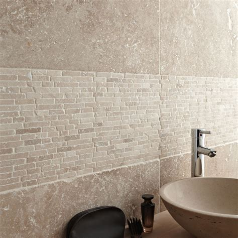 travertin sol et mur beige effet travertin l 40 6 x