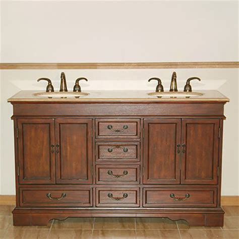 silkroad double sink bathroom vanity shop silkroad exclusive ashley red chestnut undermount