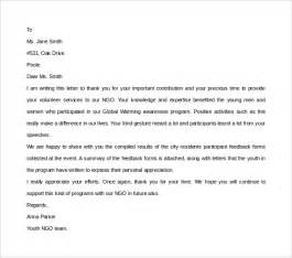 volunteer thank you letter 9 free documents in