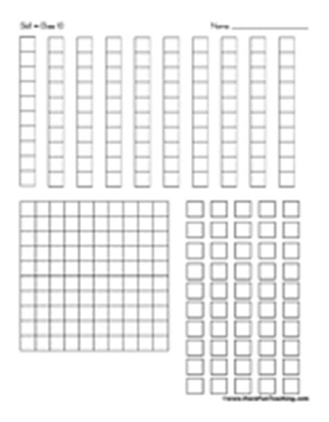 math block coloring pages printable base 10 blocks math chart and 50th