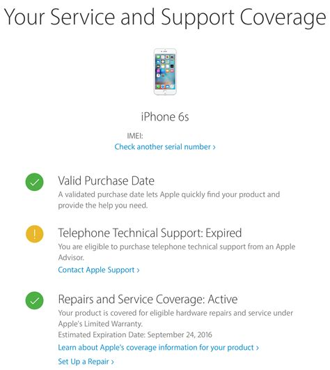 apple guarantee how to check warranty status for your iphone ipad or mac