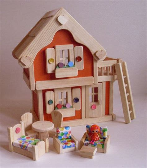 lalaloopsy doll houses sale orange crush wooden mini lalaloopsy scale doll house dollhouse with natural wood
