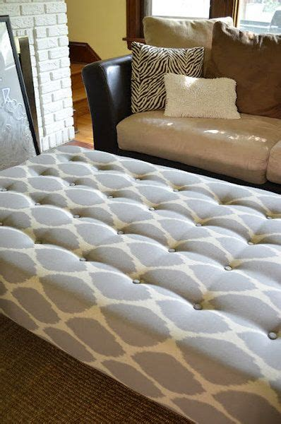 diy upholstered ottoman coffee table diy upholstered ottoman coffee table