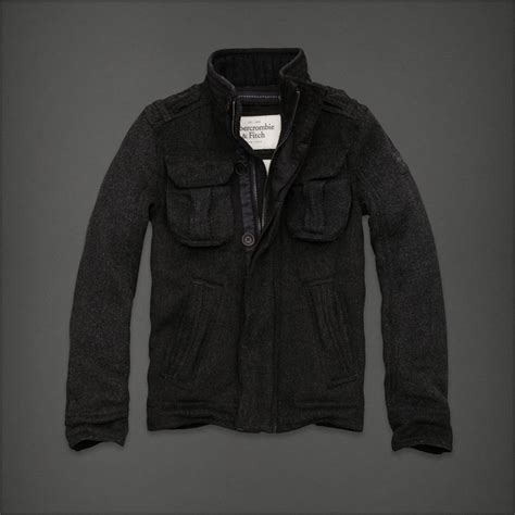 Jaket Hoodie Zipper Uber Nazwa Cloth abercrombie fitch dix range wool jacket clothes