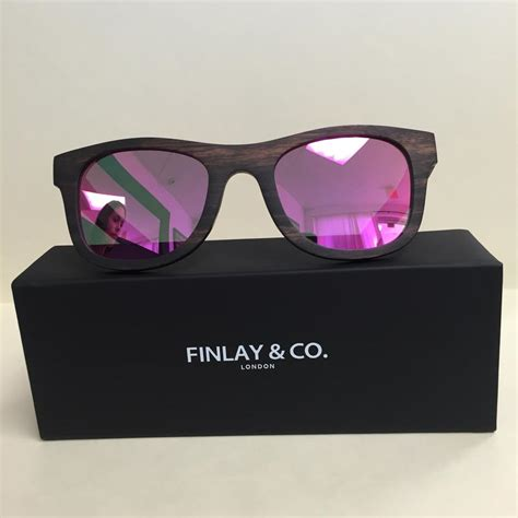 0204s Pink Pink Mirror Lens finlay and co wood sunglasses with pink mirror lens 10047223 sunglasses
