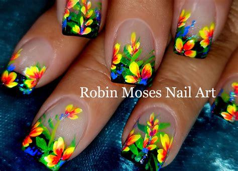 Floral Nail Design Tutorial diy flower nails easy floral nail design tutorial