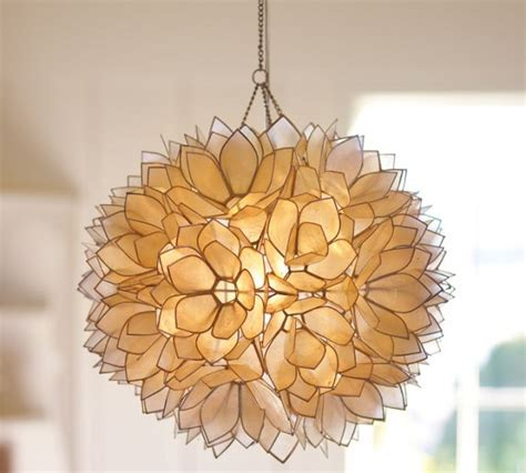 lotus flower pendant light a luminous lotus flower capiz pendant ingenious look