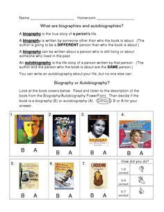 biography and autobiography foldable biography and autobiography sort with foldable freebie