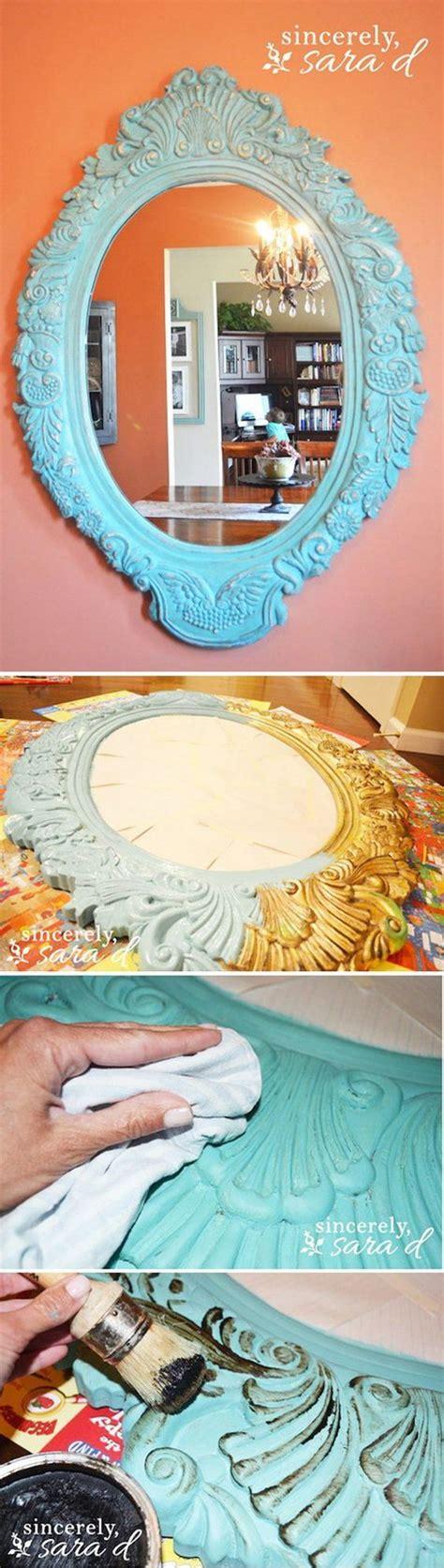 diy chalk paint mirror 30 diy ideas tutorials to get shabby chic style