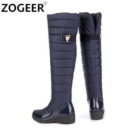 plus size 34 44 boots 2016 winter plush