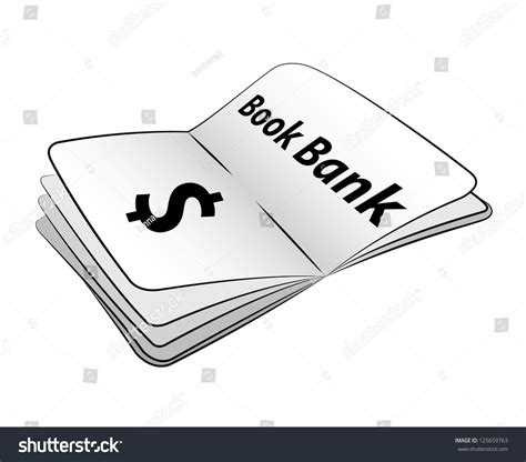 the white of pond bank books black outline vector book bank on white background