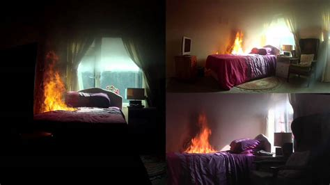 this bed is on fire bedroom electrical fire no sprinklers fitted youtube