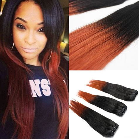 different weaving hair style 1pcs set 5a grade virg ombre hair weave straight style