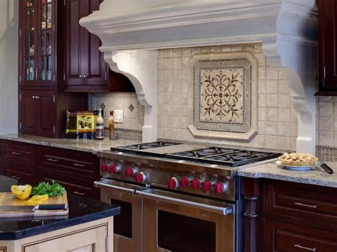 make the kitchen backsplash more beautiful field tile with sporadic deco tiles then detailed