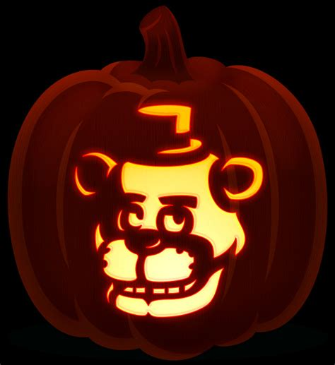 freddy fazbear orange and black pumpkins