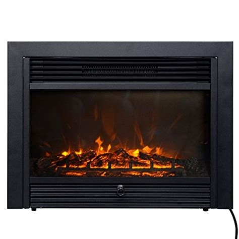 giantex 28 5 quot electric fireplace insert with heater glass