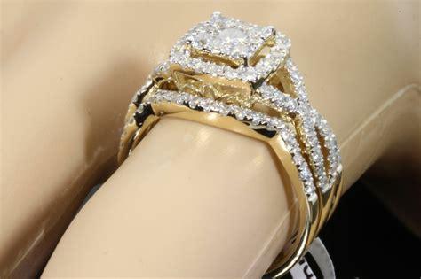 yellow gold  carat womens real diamond engagement ring wedding