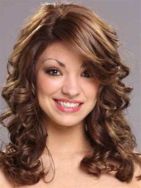 haircuts for curly hair short length medium length haircuts with bangs for wavy hair