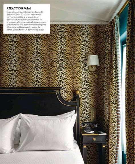leopard print wallpaper for bedroom decorating with a savage element beautiful house tours