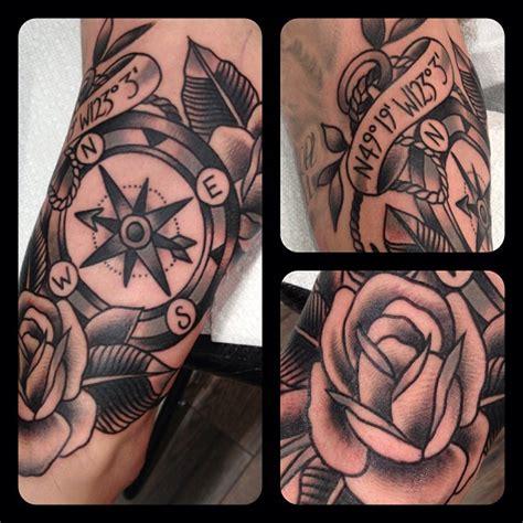 compass tattoo american traditional black compass tattoo by matt houston design of
