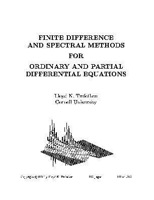 Spectral Methods In Matlab trefethen numerical ode pde textbook