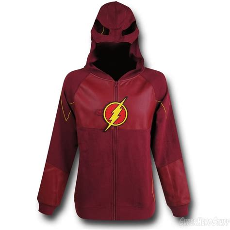 Sweater Hoodie Zipper Flash flash tv show suit up costume zip up hoodie