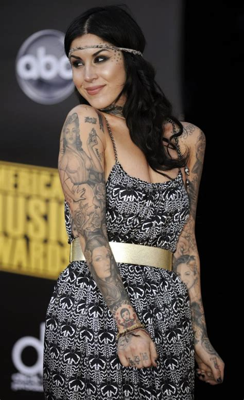 kat von d tattoos on her body d and tattos on