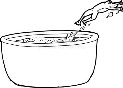 Water Pot Outline by Outline Drawing Of Frog Jumping Out Of Pot Stock Illustration Image 49526623