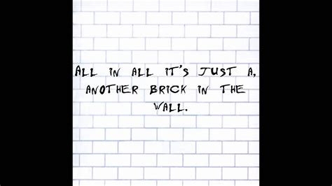 another brick in the wall testo pink floyd another brick in the wall lyrics